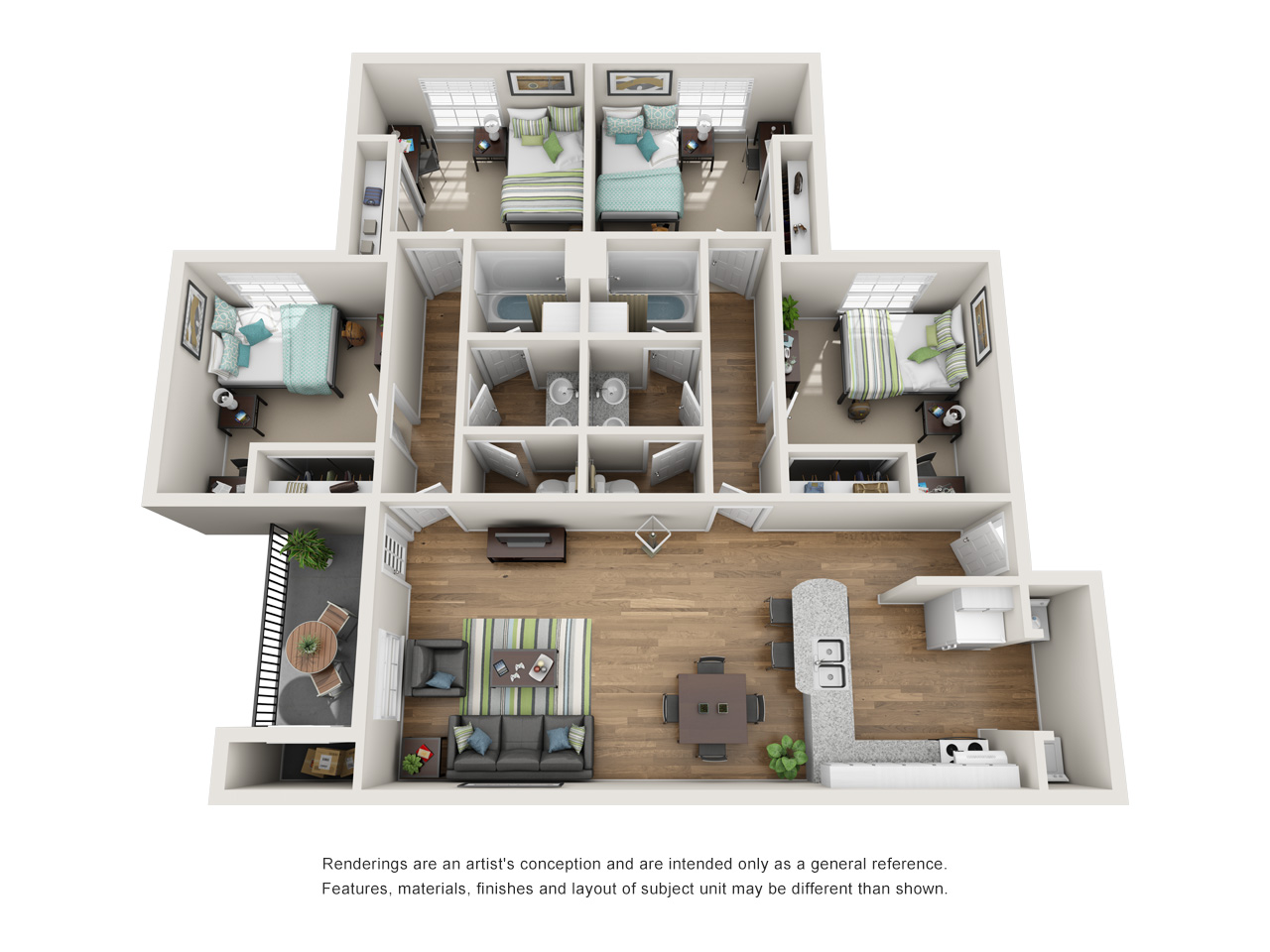 Floor Plans | The Oliver Near The LSU Campus